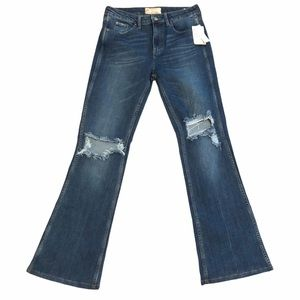 NWT Free People Distressed Flare Jeans